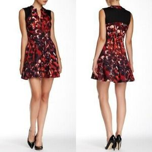 Jessica Simpson Firebird Fit N Flare V-neck Dress
